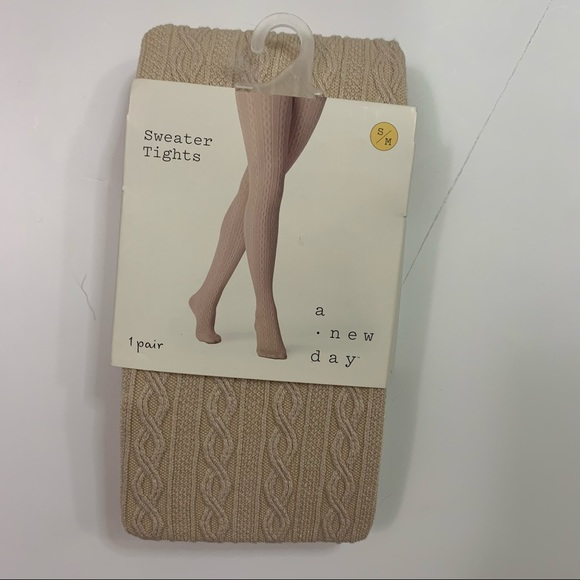 A new day  Sweater tights NWT Size S/M